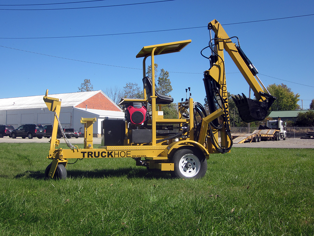 The Towable Truckhoe   Axis Corporation